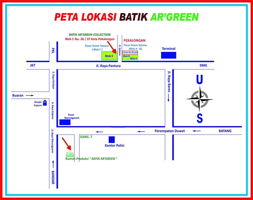 Peta Lokasi Batik Ar'Green Collection