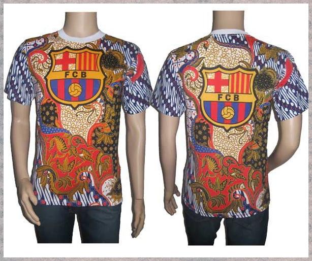 Kaos Batik Bola  Pusat Grosir Baju Batik Modern Pekalongan Murah