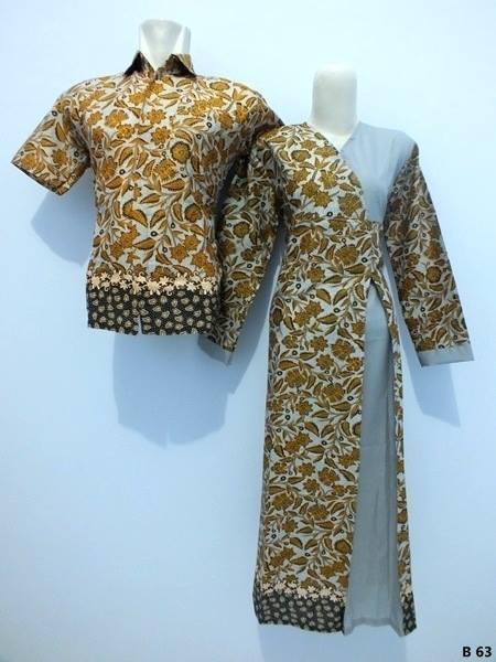 Baju Batik Modern Pekalongan Sarimbit Gamis Pusat