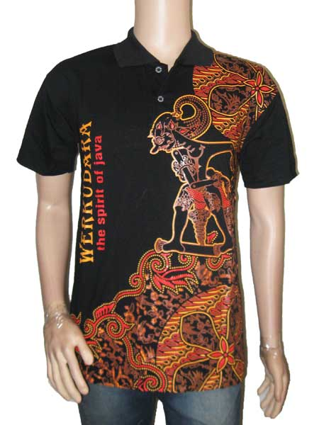 Kaos Kerah Batik Wayang - Indonesia