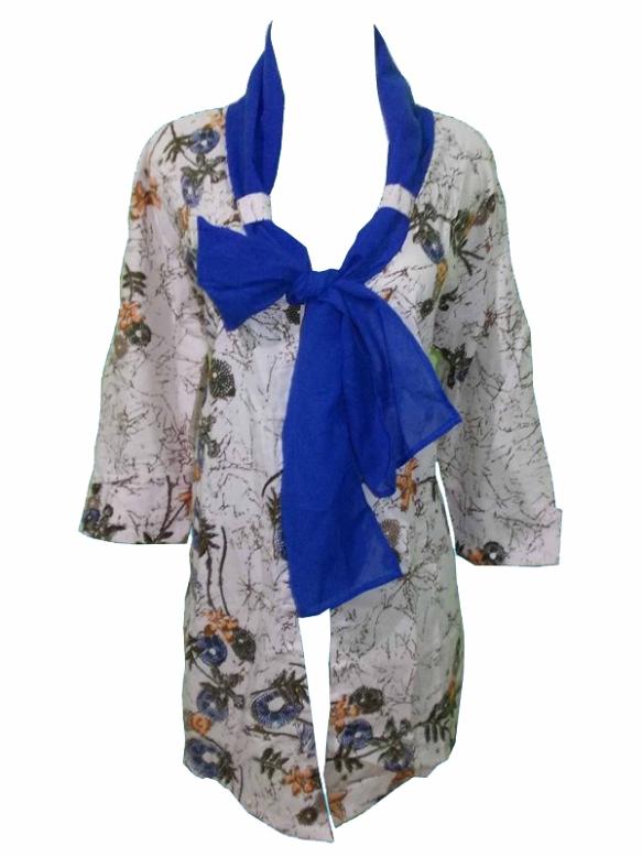 batik pekalongan bolero shawl ym 52