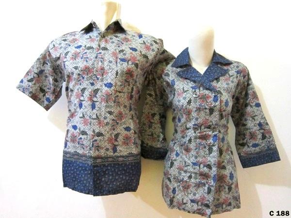 Seragam Couple Batik Blouse Contoh   sarimbit-blouse-C188 097671c0d4