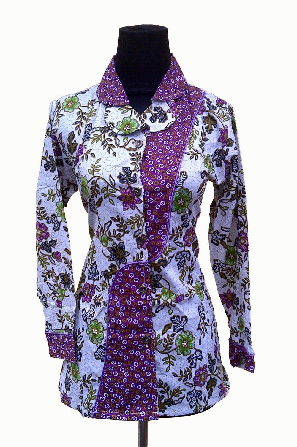 Baju Batik Modern Pekalongan – Kain Batik Bunga Mawar