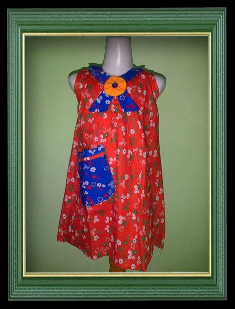 Baju Dress Batik Anak-Anak