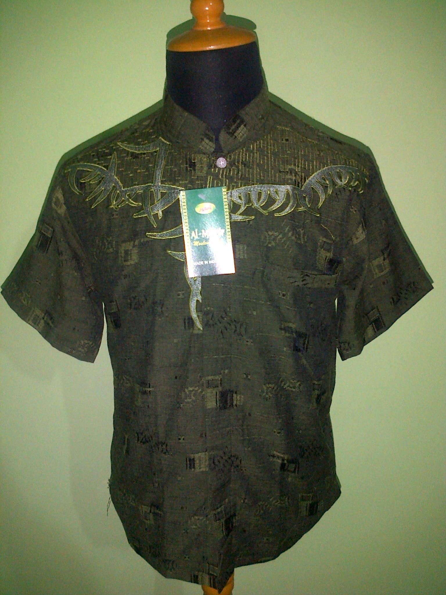 Baju Koko Muslim Pusat Grosir Batik Modern Pekalongan Murah Grey M Argreen 3