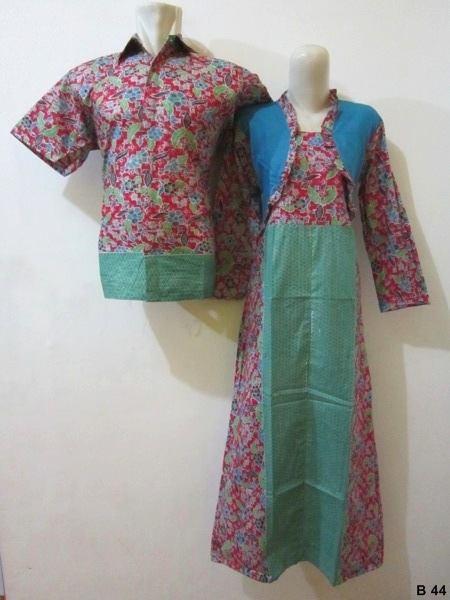 Baju Batik Modern Pekalongan Sarimbit Gamis Baju Batik