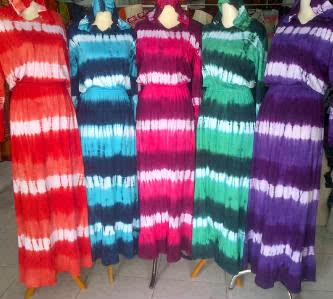batik argreen long topy