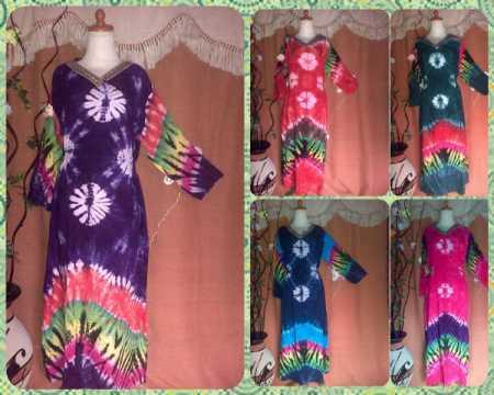 batik argreen Longdress 1