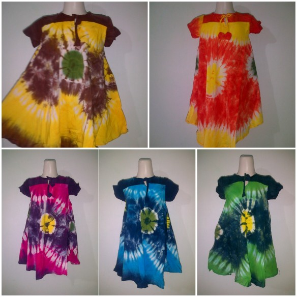dress anak pelangi payung