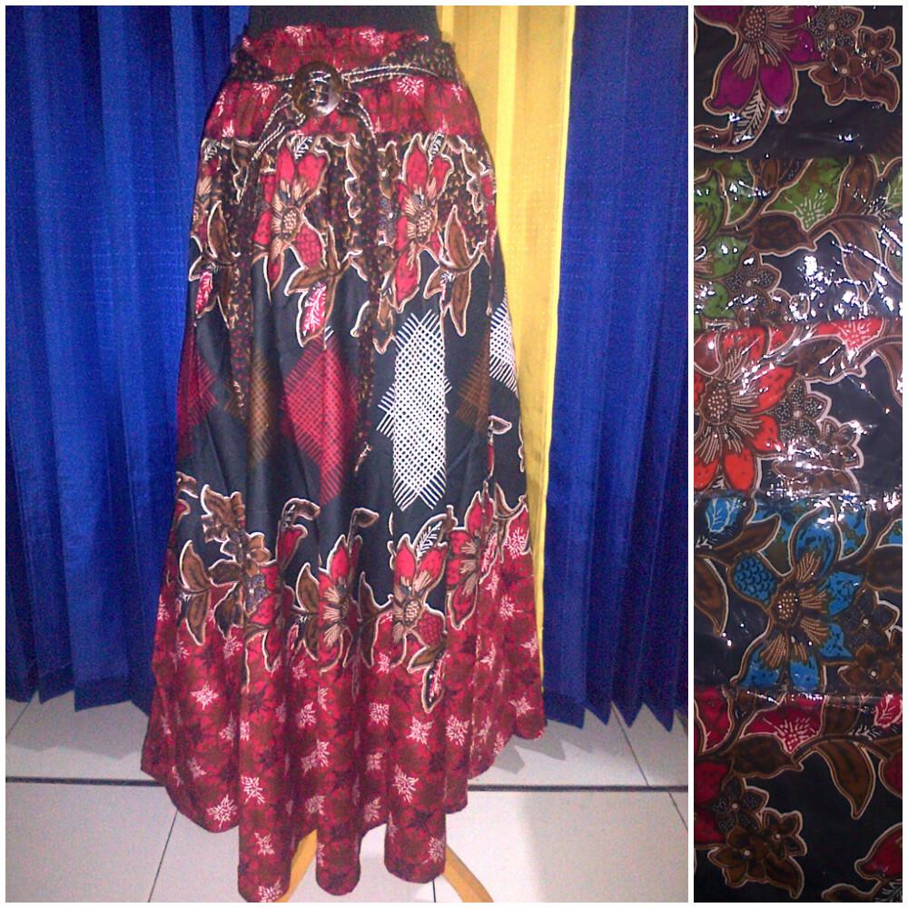Baju Batik Modern Pekalongan Rok Payung Motif Rantai