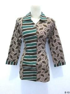 Blouse batik argreen D13