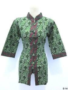 Blouse batik argreen D14