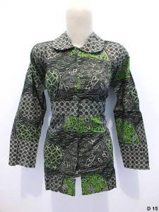 Blouse batik argreen D15