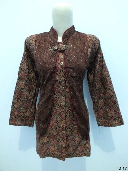 Blouse batik argreen -D17