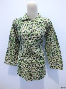 Blouse batik argreen D18