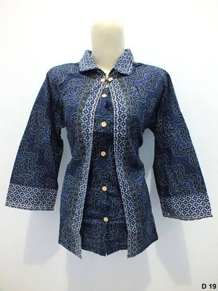 Blouse batik argreen D19