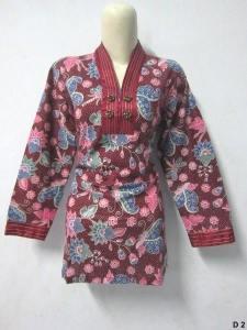 Blouse batik argreen D2