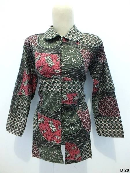 Blouse batik argreen D20