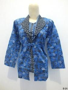Blouse batik argreen D21
