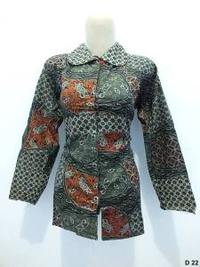 Blouse batik argreen D22