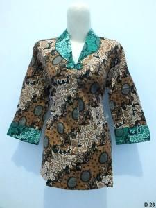 Blouse batik argreen D23