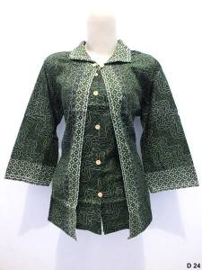 Blouse batik argreen D24