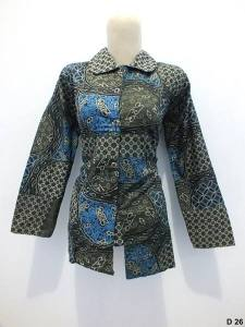 Blouse batik argreen D26