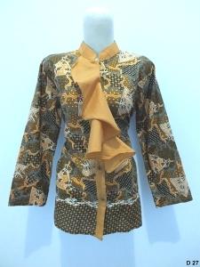 Blouse batik argreen D27