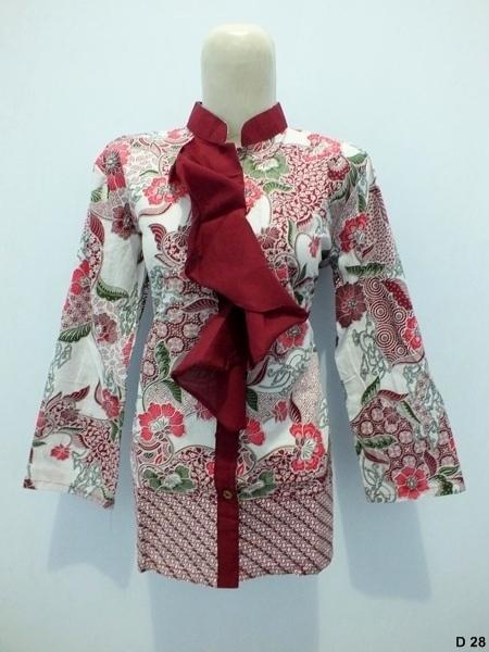 Blouse batik argreen D28