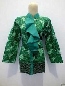 Blouse batik argreen D29