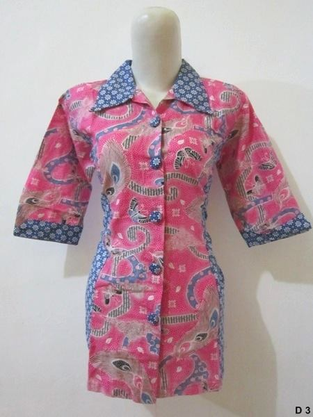 Blouse batik argreen D3