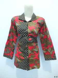 Blouse batik argreen D31