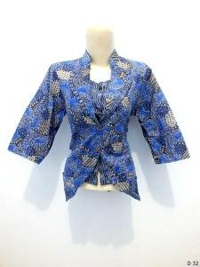 Blouse batik argreen D32