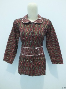 Blouse batik argreen D33