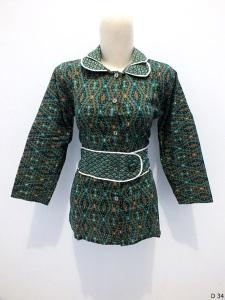 Blouse batik argreen D34
