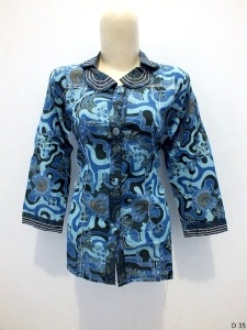 Blouse batik argreen D35