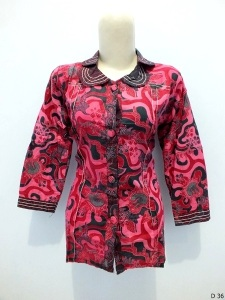Blouse batik argreen D36