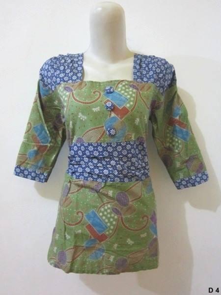 Blouse batik argreen D4