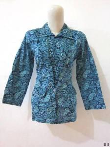 Blouse batik argreen D5