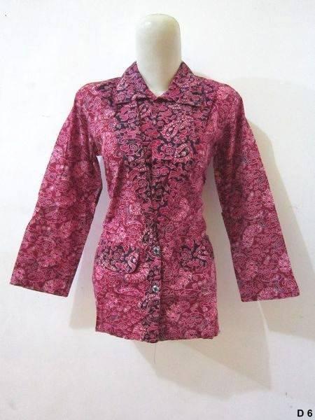 Blouse batik argreen D6