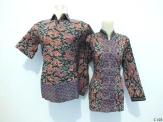 sarimbit blouse batik argreen C103
