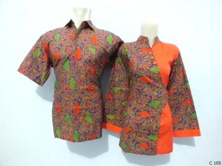 sarimbit blouse batik argreen C105
