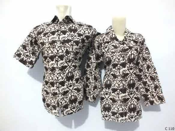 sarimbit blouse batik argreen C110
