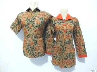 sarimbit blouse batik argreen C112