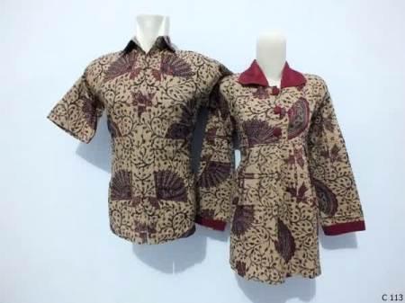 sarimbit blouse batik argreen C113