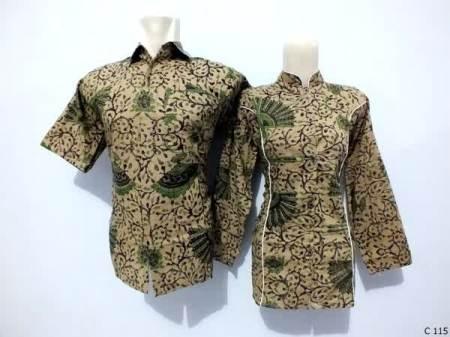 sarimbit blouse batik argreen C115