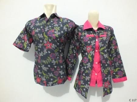sarimbit blouse batik argreen C117