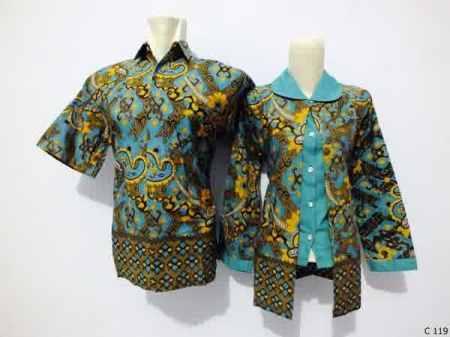 sarimbit blouse batik argreen C119