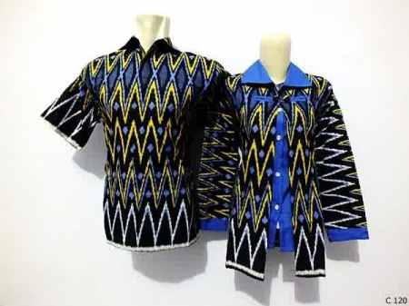 sarimbit blouse batik argreen C120