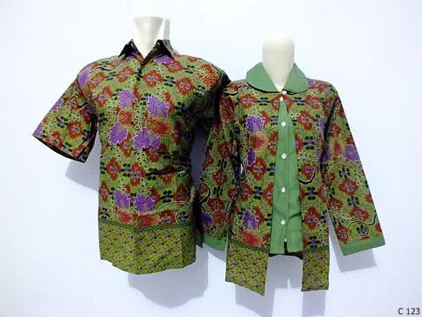 sarimbit blouse batik argreen C123
